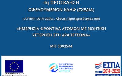 ΣΧΕΔΙΑ: 4η Πρόσκληση για αιτήσεις φοίτησης μέσω ΕΣΠΑ Πρόγραμμα MIS 5002544